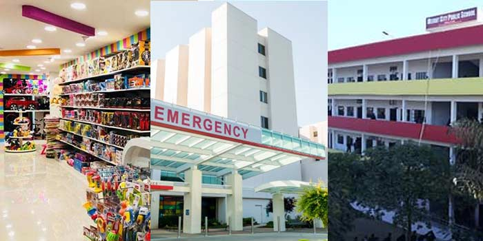 Locate Nearest Grocer Hospital and School