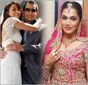 Amrita Arora and Isha Koppikar Weddings