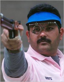 samresh jung shooting player samresh jung famous indian shooting